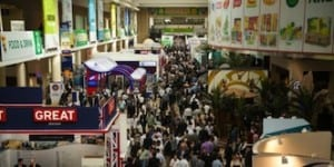 Crowds at Gulfood exhibition in Dubai.