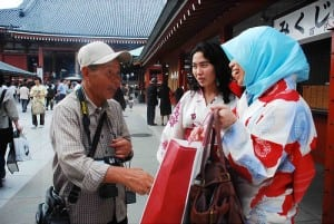 Currently, there are about 120,000 Muslims in Japan out of a total population of 127 million people