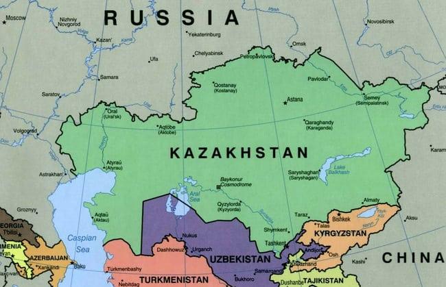 Kazakhstan Political Map 2000