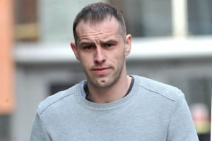 Liam Edwards leaving Manchester Magistrates Court