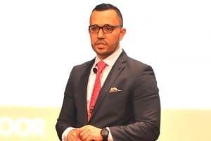 Dr Mohamed Issa delivers his presentation. – AZROL AZMI