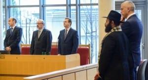 Rabbi Menachem Margolin General Director of the European Jewish Association at Poland's Constitutional Court in December. Photo: PAP/Jakub Kaminski