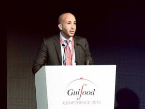 Adnan Halawi, senior proposition manager at Thomson Reuters, during a Gulfood 2016 session in Dubai yesterday.
