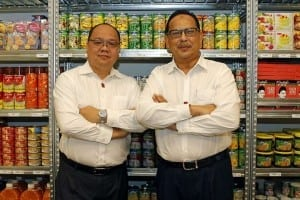 My Outlets president Ronnie Tan (left) with Mr Malek, the chief executive. The company assists emerging SMEs in the halal food industry to expand and grow.ST PHOTO: TAMARA CRAIU
