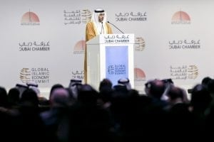 Majid Saif Al Ghurair, Chairman of the Dubai Chamber of Commerce & Industry, attends the Opening Ceremony of the Global Islamic Economy Summit 2016. Reem Mohammed / The National