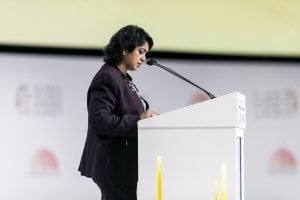 Ameenah Gurib-Fakim, President of The Republic of Mauritius, at the Opening Ceremony of the Global Islamic Economy Summit 2016. Reem Mohammed / The National