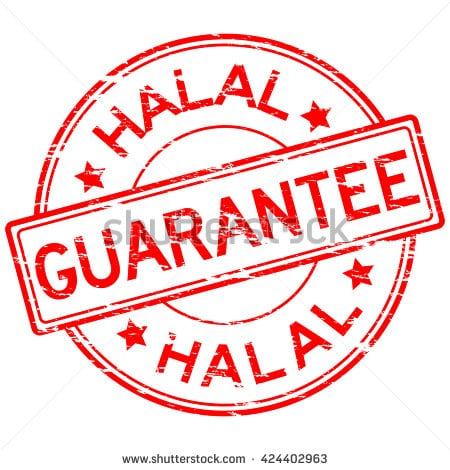 stock-vector-red-grunged-guarantee-and-halal-stamp-placed-on-white-background-424402963