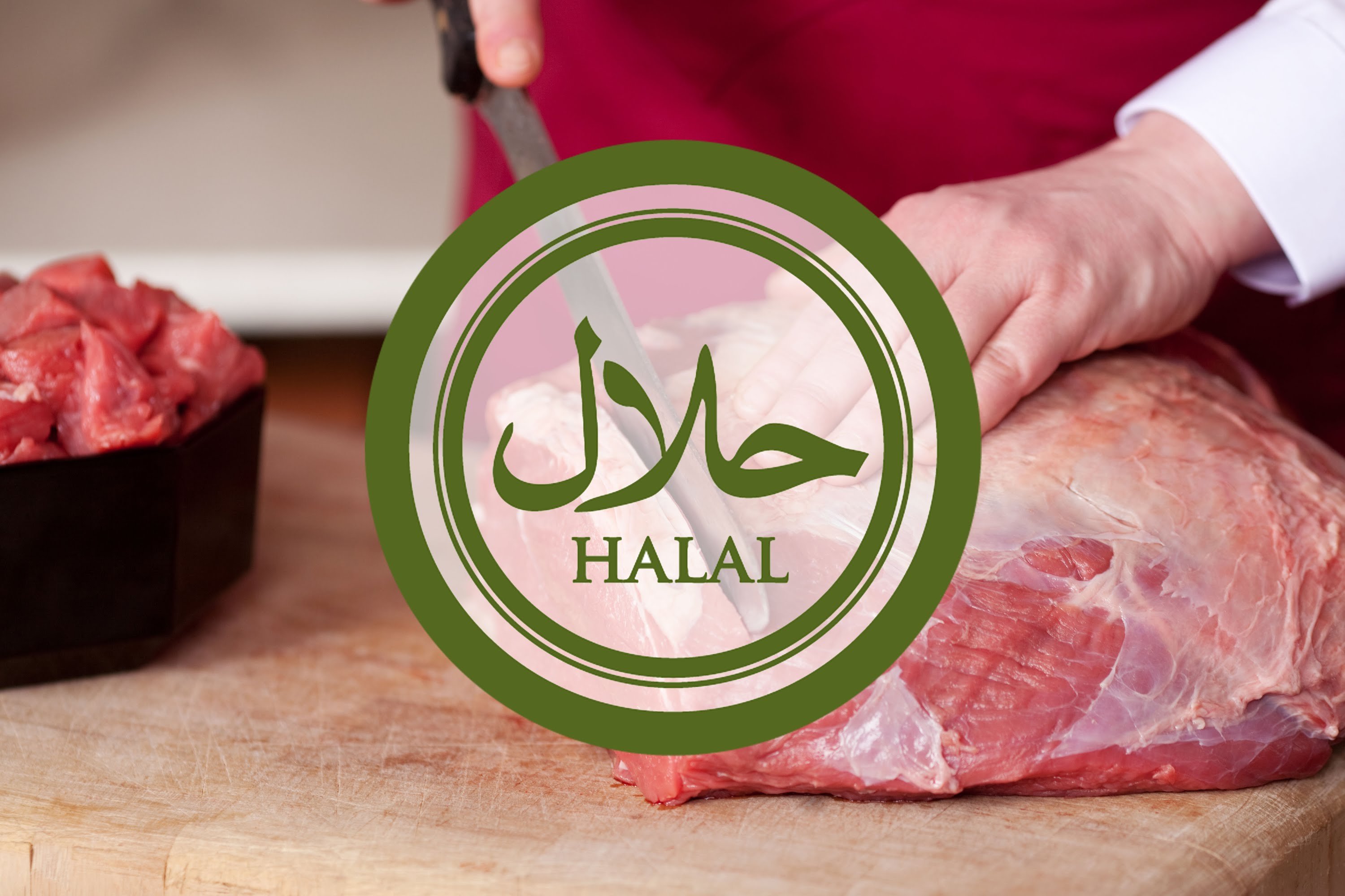 halal logo with meat